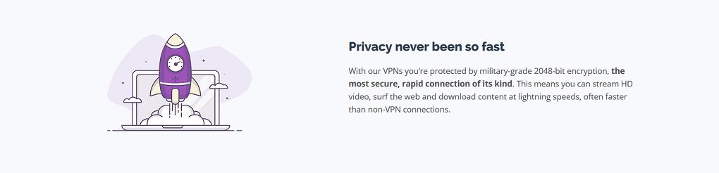 PrivateVPN nopeus