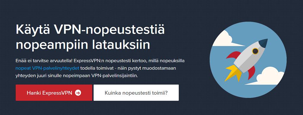 ExpressVPN nopeus